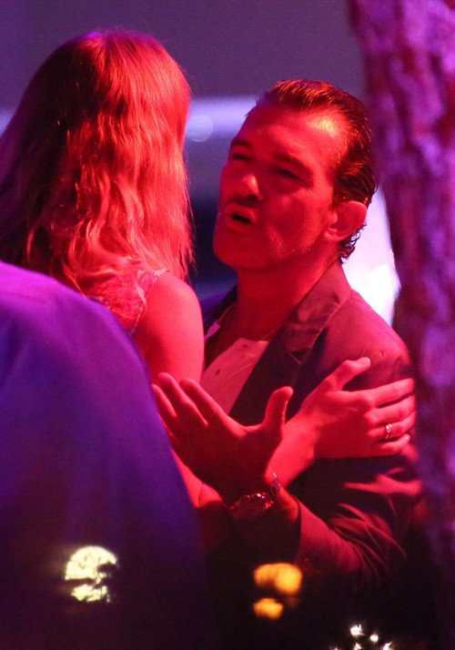 Antonio Banderas Getting Cozy With Women Is Saint Tropez