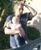 Exclusive... Kristen Bell & Family At A Birthday Party