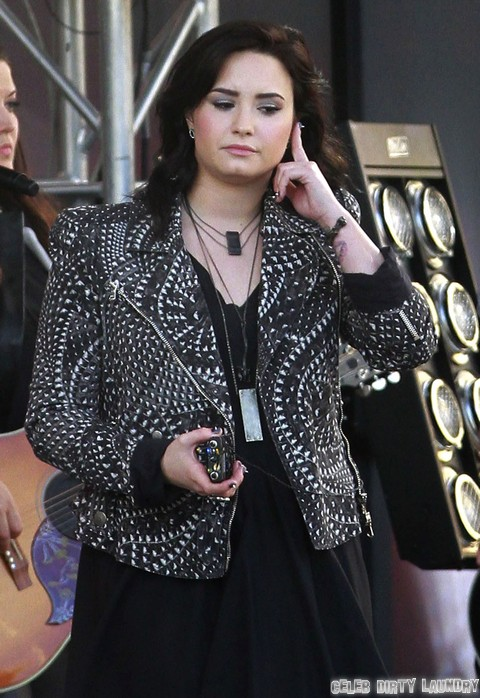 demi lovato performing at jimmy kimmel live celeb dirty