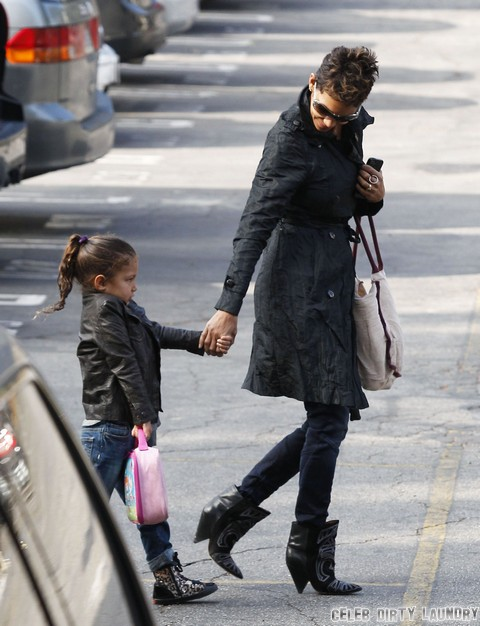 Halle Berry Takes Nahla To School