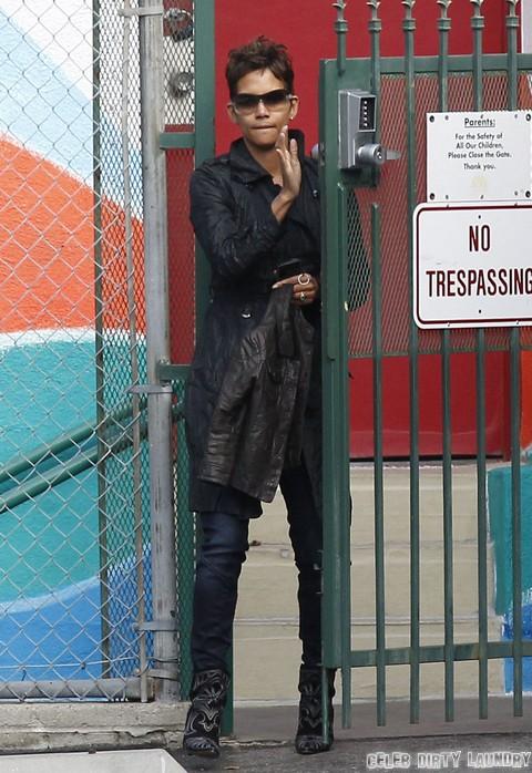 Halle Berry Takes Nahla To School