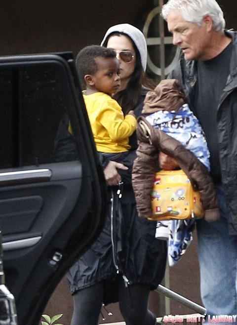 Sandra Bullock Picks Up Son Louis From School