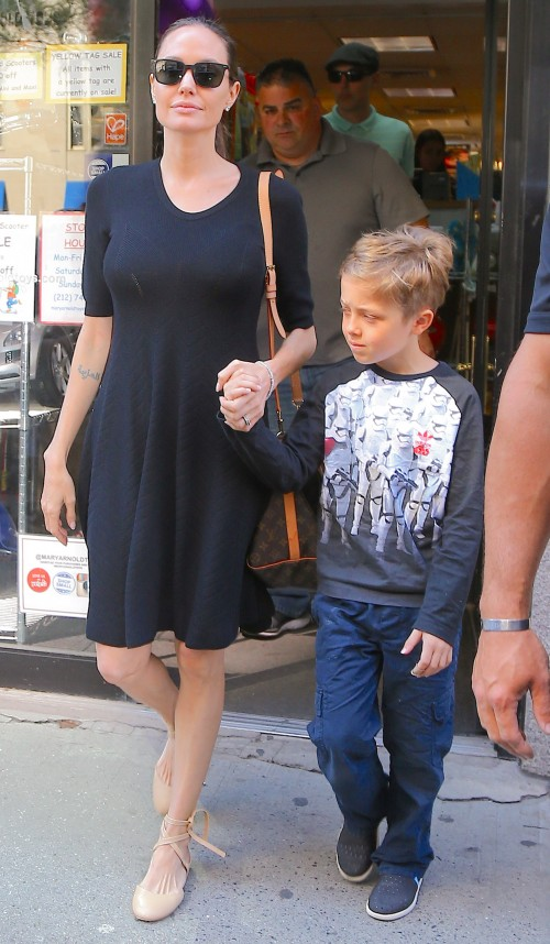 Angelina Jolie Putting on Weight to Save Brad Pitt Marriage - Check Out Healthier Looking Photos with Knox Jolie-Pitt