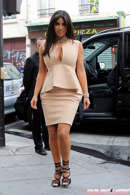 Sexy Kim Kardashian Strolls The Streets Of Paris