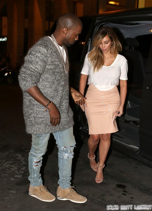 Kim Kardashian & Kanye West Out For Dinner In Paris