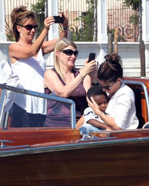 Sandra Bullock Amp George Clooney Arrive At Venice Film