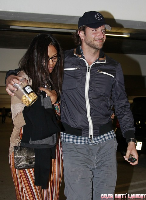 Bradley Cooper and Zoe Saldana Have a Night Out at the Theater