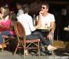 Simon Cowell & Lauren Silverman Grab Lunch In London