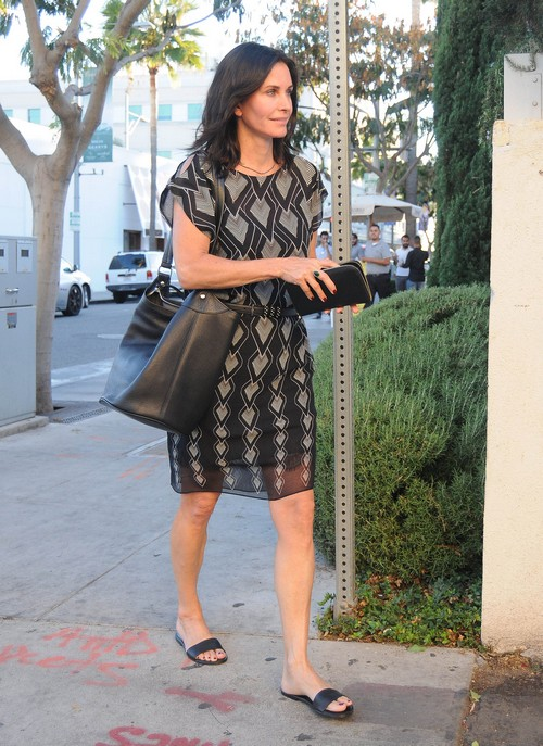Courteney Cox Out With A Friend In Beverly Hills Celeb