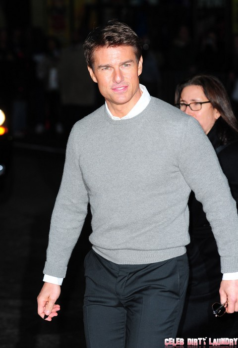 Tom Cruise Visits 'The Late Show With David Letterman'