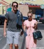 Newly Engaged Couple Kaley Cuoco & Ryan Sweeting Running Errands In Sherman Oaks