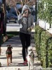 Exclusive... Miley Cyrus Walks Her Dog In Studio City