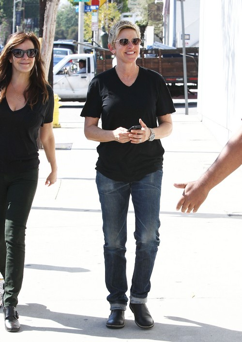 Ellen DeGeneres Lunches With A Friend
