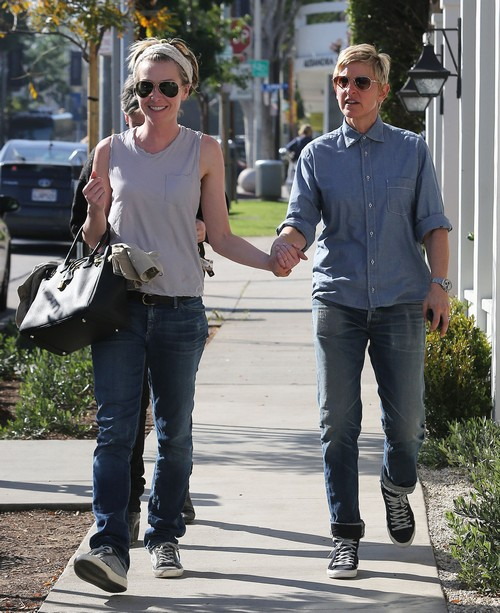 Ellen Degeneres & Portia de Rossi Spend Valentine's Day In West Hollywood