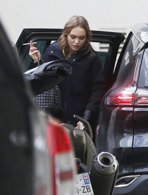 Lily Rose Depp Goes To A Business Meeting In Paris Celeb