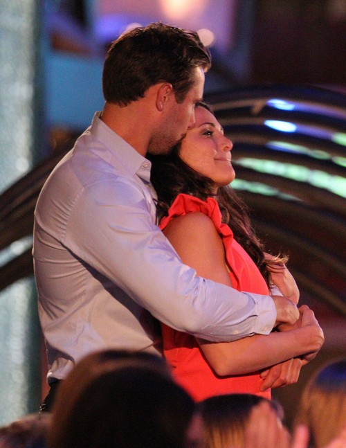 Exclusive... Andi Dorfman Gets Affectionate With Her Date