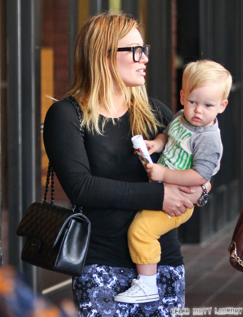 Hilary Duff Takes Luca To A Baby Class