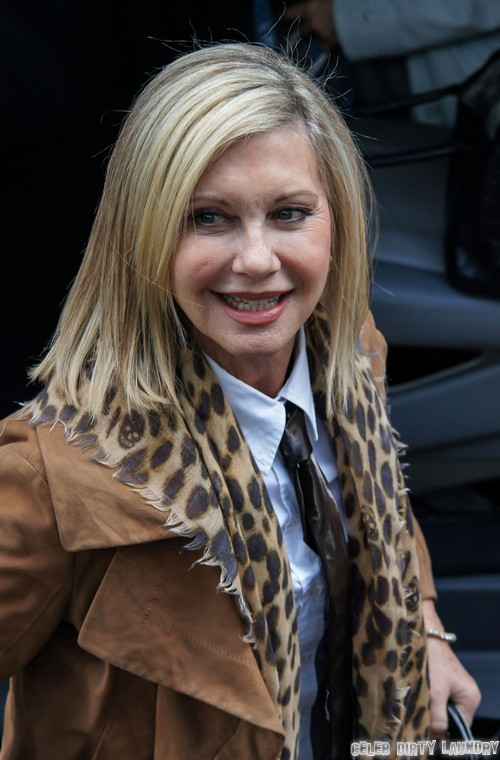 Olivia Newton-John Arriving At ITV Studios In London