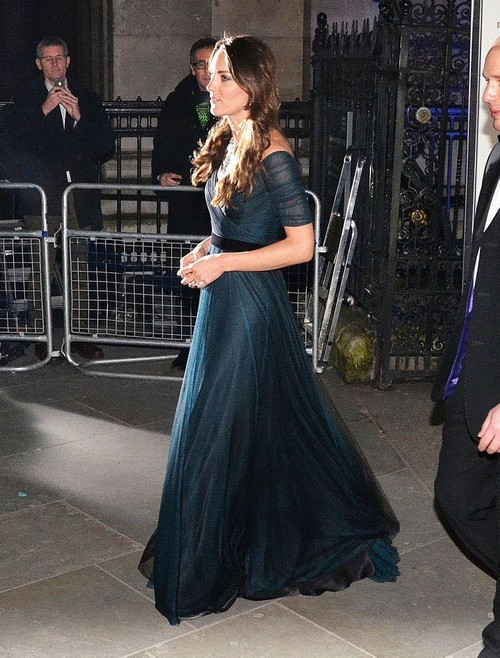 Kate Middleton Leaving The National Portrait Gallery In