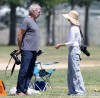 Harrison Ford And Calista Flockhart At Liam's Football Game