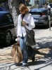 Recently Married Jodie Foster Shopping In Los Angeles