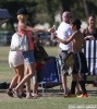Brandi Glanville And Son's Have A Water Fight After The Game