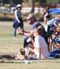 Brandi Glanville, Eddie Cibrian & LeAnn Rimes At Mason's Soccer Game