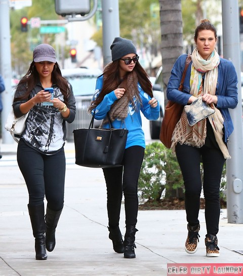 Exclusive... Selena Gomez Shops In Beverly Hills With Friends