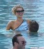 Paris Hilton & River Viiperi Hanging Out Poolside In Miami