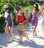 Julianne Hough & Nina Dobrev Soaking Up The Sun In Miami
