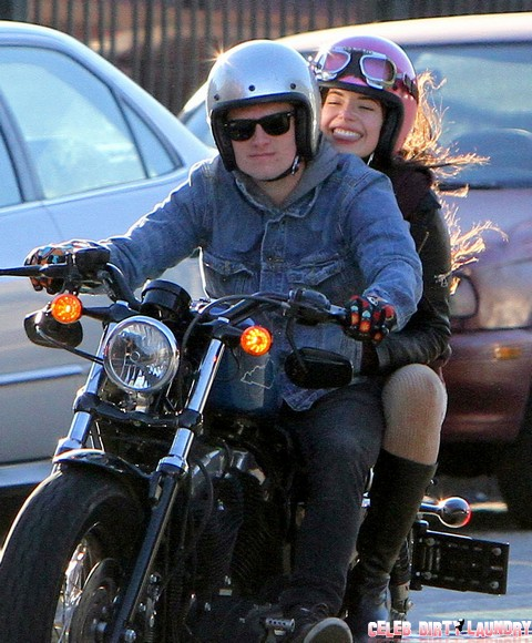 Josh Hutcherson And A Female Friend Out For A Motorcycle