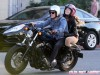 Josh Hutcherson And A Female Friend Out For A Motorcycle Ride