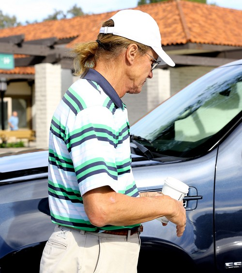 Exclusive... Bruce Jenner Stopping By Starbucks For A Coffee