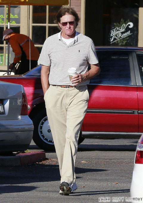Bruce Jenner Stops By Starbucks In Sherman Oaks
