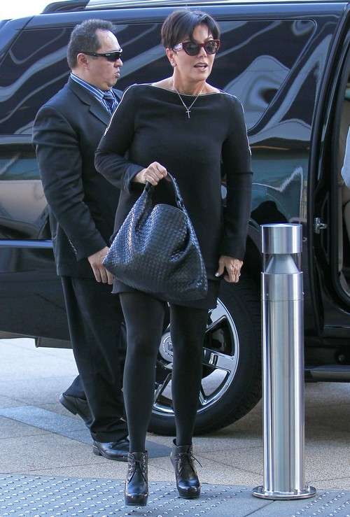 Kris Jenner Heads To A Meeting In Century City