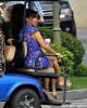 The Kardashians Arrive For Kris Jenner's Talk Show