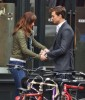 Semi-Exclusive... Dakota Johnson & Jamie Dornan Share A Fun Moment On Set