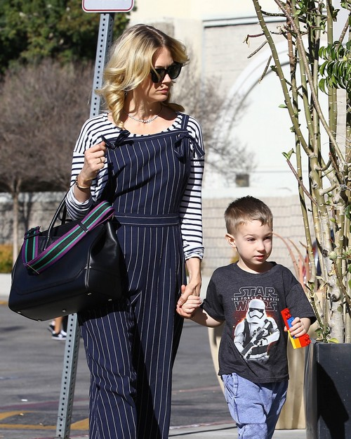 Exclusive... January Jones Takes Her Son To The Movies ...