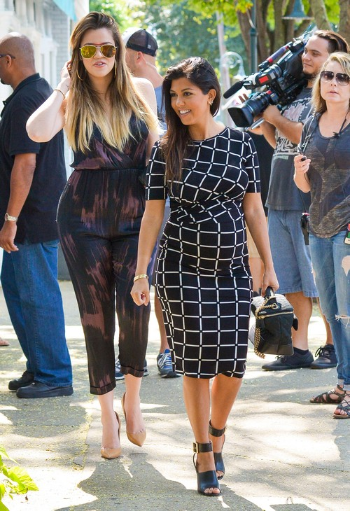 Kourtney & Khloe Kardashian Film Their New Reality Show