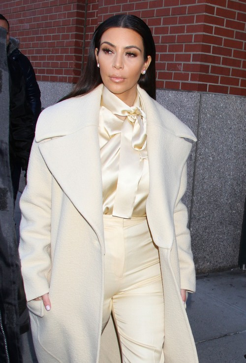 Kim Kardashian Looks Pregnant with Baby Bump in Riccardo Tisci's Awful Outfit - Modern Day Marilyn Monroe (PHOTOS)