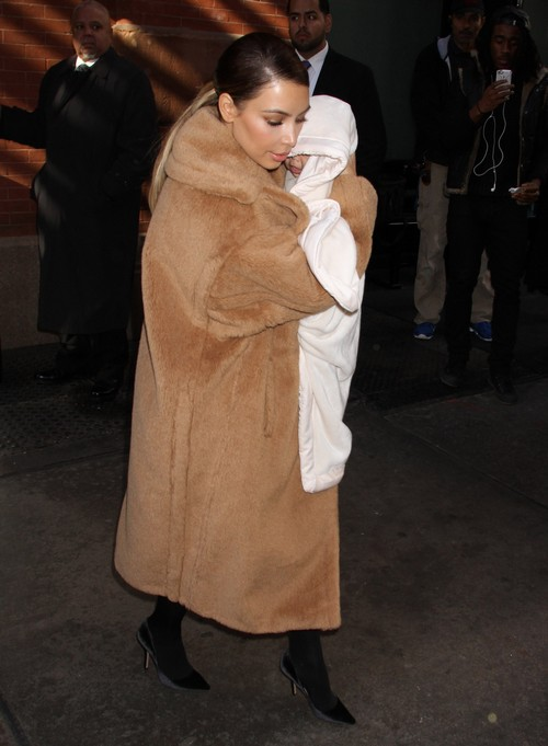 Kim Kardashian & North Step Out In New York