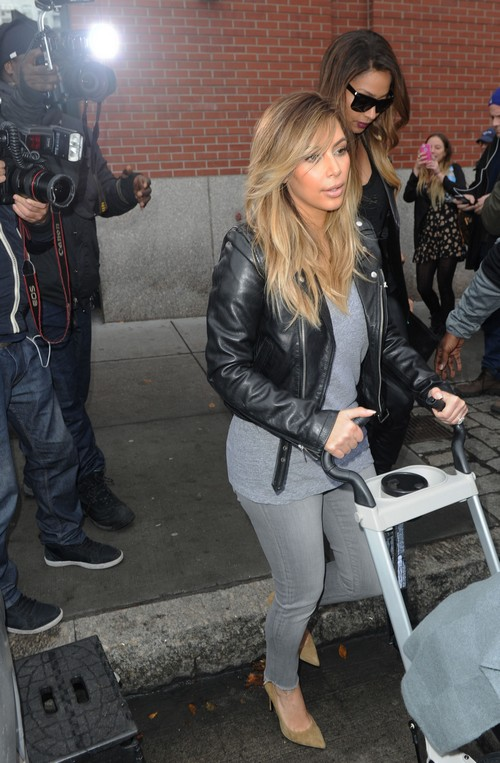 Kim Kardashian & LaLa Anthony Go To Lunch At ABC Kitchen