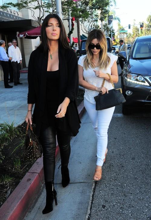 Kim Kardashian & Brittny Gastineau Dine At LA Scala