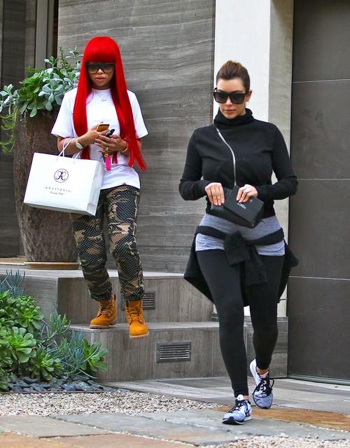 Kim Kardashian & Blac Chyna Get Their Brows Done