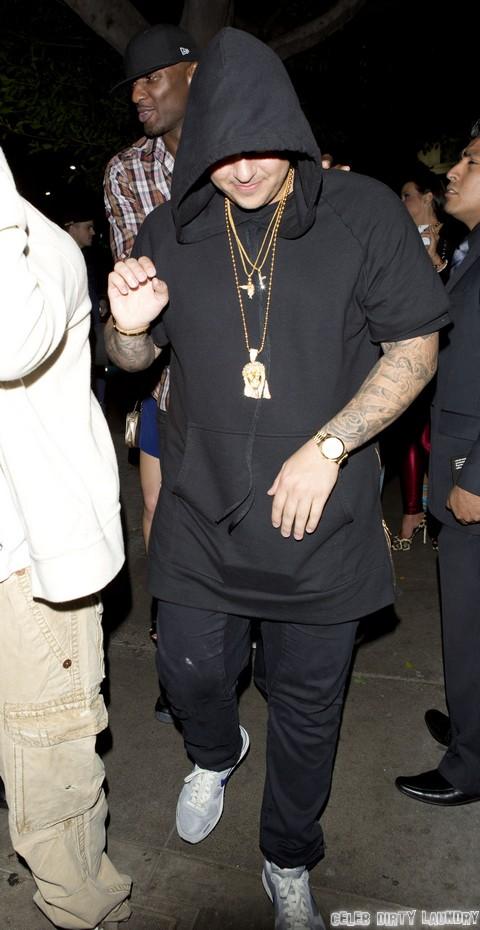 Rob Kardashian & Lamar Odom Party At Emerson Nightclub