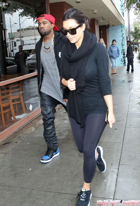 Kim Kardashian & Kanye Grab Lunch At Nate 'N Al's
