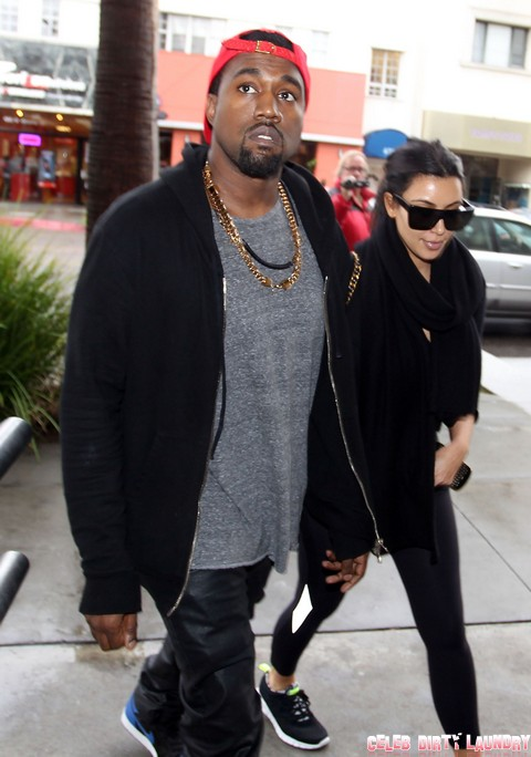Kim Kardashian & Kanye Grab Lunch At Nate 'N Al's