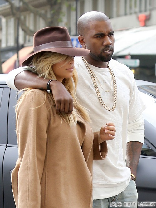 Kim and Kanye Arrrive in Paris