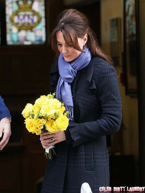 Pregnant Kate Middleton Leaves The Hospital With William