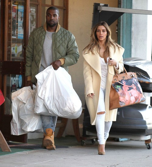 Kim & Kanye Shopping At A Sporting Goods Store